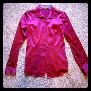 Hot pink Limited silk dress shirt